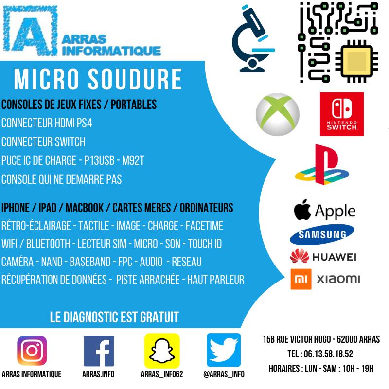 Micro Soudure sur carte mére sur arras et partout en france