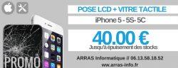 Reparation ecran iphone 5 arras 62