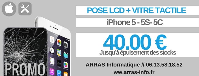 Reparation ecran iphone 5 arras 62